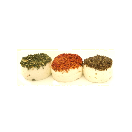 Trio de chèvre aromatisé, Ferme de Lucie (3 pièces)