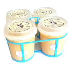 Crèmes dessert de vache vanille (x4)