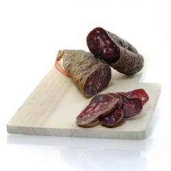Saucisson sèche bio : boeuf et porc (100g) - Risque rupture élevé