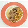 Mijoté d'agneau aux haricots big borletto et trompettes chanterelles (recette)